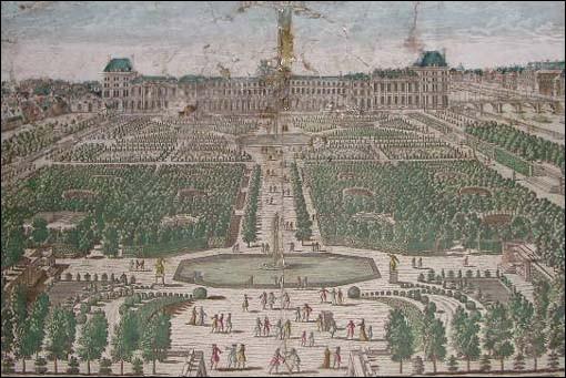 Louis-Sébastien Mercier décrivait la vie parisienne : « Tous les chieurs se rangeaient sous une haie d'ifs, et là ils soulageaient leurs besoins. Il y a des gens qui mettent de la volupté à faire cette sécrétion en plein air ». Où se déroule cette scène du XVIIIe s. ?