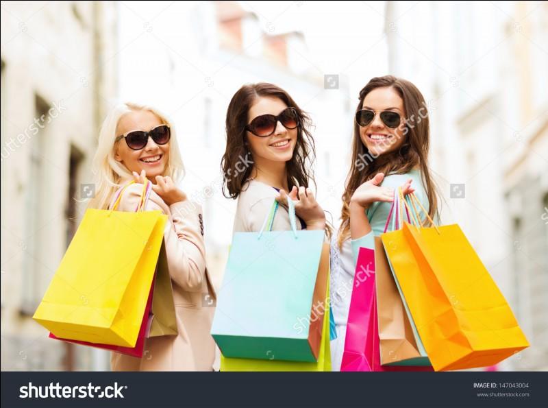 Combien de fois fais-tu du shopping en un mois ?
