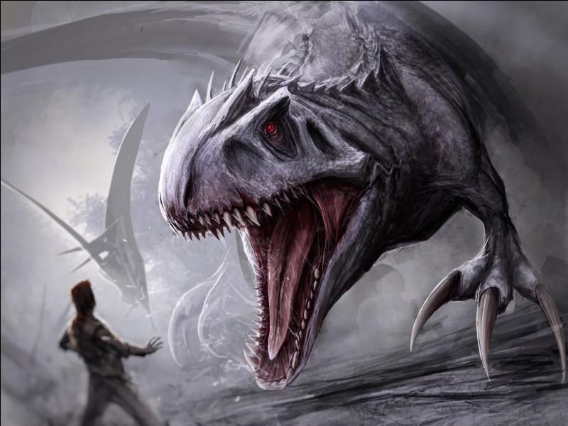 Un dinosaure imaginaire bien connu des fans de Jurassic Park : l'indominus rex, dont le nom signifie...