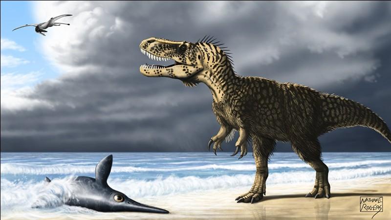 Voici d'autres dinosaures qui faisaient régner la terreur comme le torvosaure, dont le nom signifie...