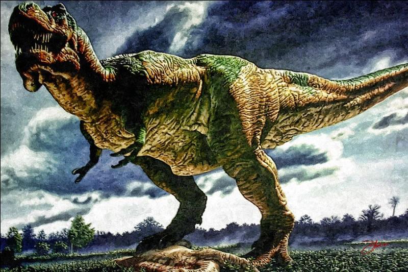 Commençons par le plus connu des dinosaures : le tyrannosaure rex, dont le nom signifie...