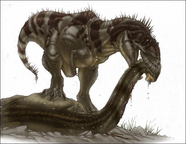 Le tyrannotitan, dont le nom signifie...