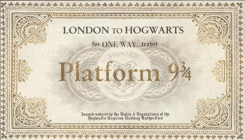 Qu'arrive-t-il à Ron et à Harry lorsqu'ils essaient de passer le mur de la voie 9 3/4 ?