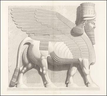 On associe une tête humaine, des oreilles, un corps de taureau et les ailes d'un oiseau. Quelle est la fonction de cette spectaculaire sculpture assyrienne pesant quelques dizaines de tonnes ?