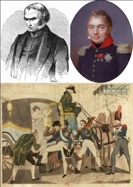 Allons au « square Louvois » où se trouvait l'Opéra de Paris !Dans la nuit du 13 au 14 février 1820 le duc de Berry est assassiné. Ce meurtre pourrait être considéré comme n'ayant servi à rien.Quelle en est la raison ?