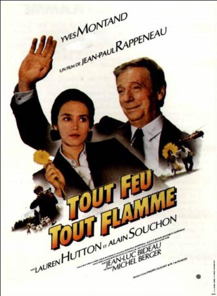 En 1982, Michel Berger compose la musique du film de Jean-Paul Rappeneau « Tout feu, tout flamme ». Quelle actrice accompagne Yves Montand dans ce film ?