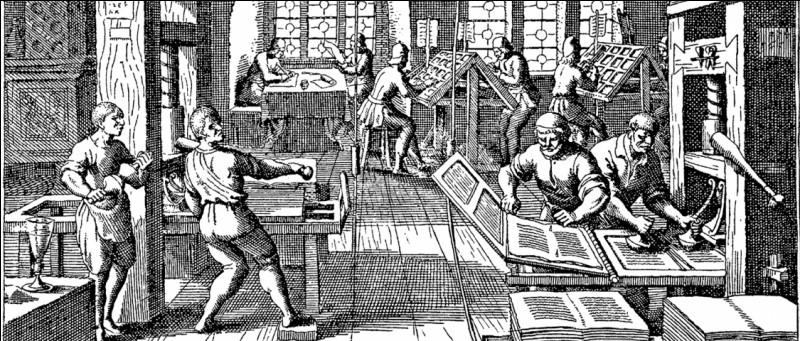 Histoire - Au cours de quel siècle Johannes Gutenberg a-t-il mis au point les caractères mobiles d'imprimerie ?