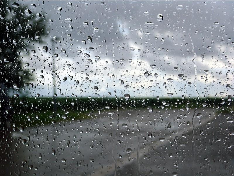 Ce matin, il pleut ! Ta première pensée :
