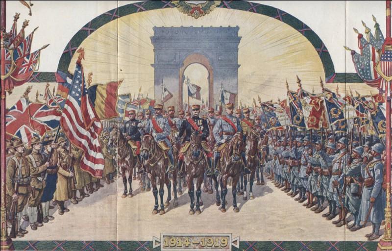Qui était Président de la République lors du défilé de la victoire, au 14 juillet qui suit l'armistice ?