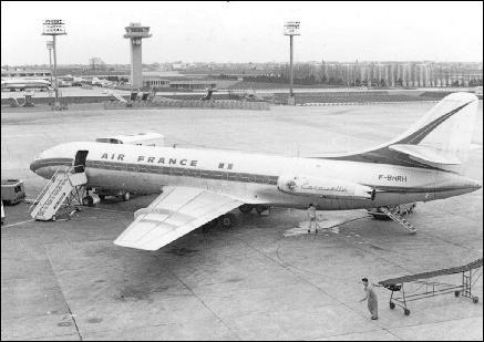 Qui était Président de la République lors du premier vol de la Caravelle ?