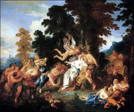Leurs amours ont débuté quand Bacchus l'a trouvée abandonnée sur une île :
