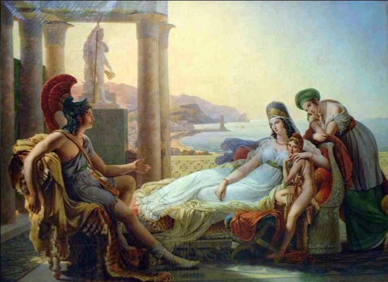 Qui préféra se donner la mort plutôt que de voir partir Enée ?