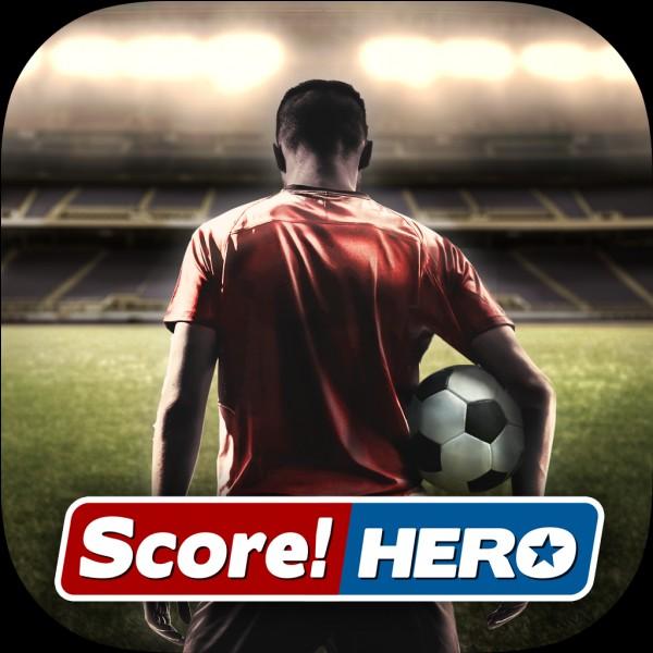 De quelle couleur est le trait que tu traces pour la trajectoire du ballon sur ''Score! Hero'' ?