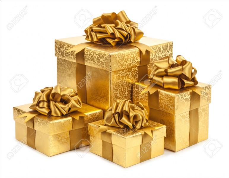 Un cadeau doré, c'est :