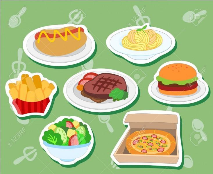 Lequel de ces plats préfères-tu ?