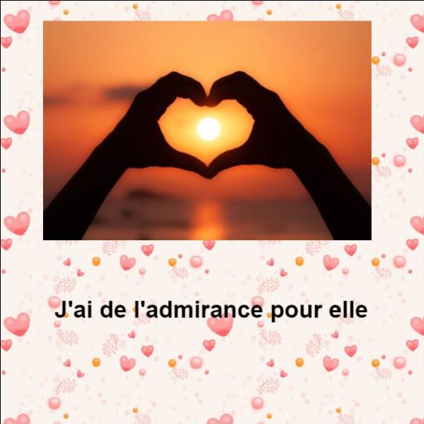 Qu'a l'auteur de cette phrase pour sa destinataire, en français ?