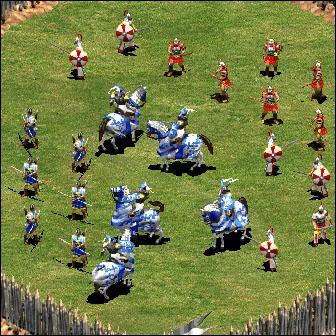 Qui remporte cette bataille ? archers brit+pal vs huskarl+samurai