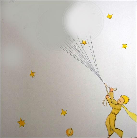 A l'aide de quoi le Petit Prince s'envola-t-il de sa planète B 612 ?