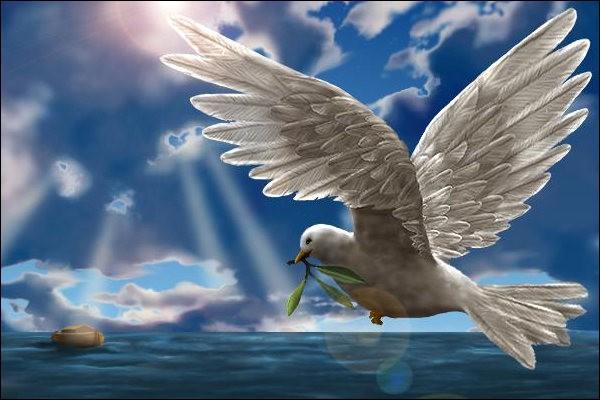 Que tient la colombe, symbole de paix, dans son bec ?