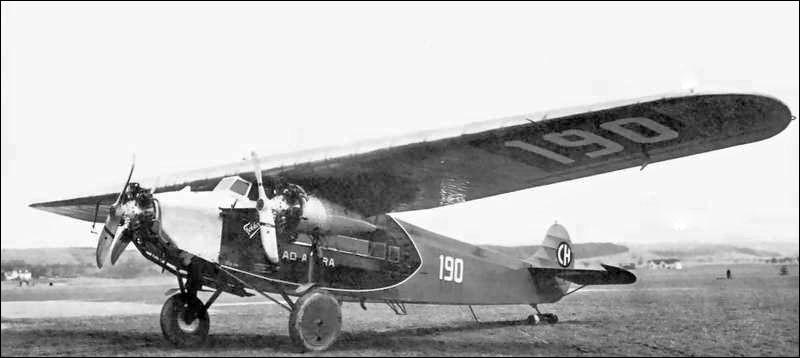 Toujours dans les premiers appareils : celui-ci est produit en Europe à partir de 1925. C'est un petit avion de ligne pouvant transporter de 8 à 12 passagers, choisi par plusieurs compagnies aériennes pionnières. De quel avion s'agit-il ?