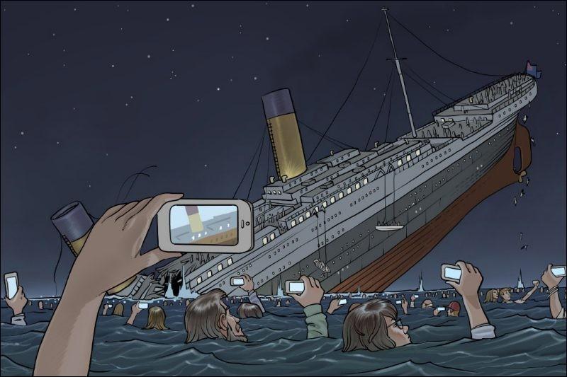 Dans quelle automobile Jack et Rose sont-ils restés avant le naufrage ?