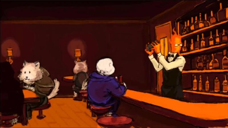 Dans Couveneige, comment s'appelle le bar où Sans adore aller ?