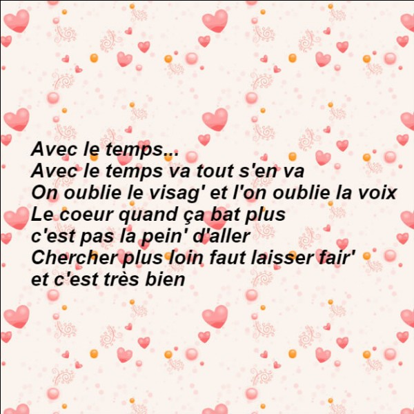 Qui nous chantait ces paroles ?