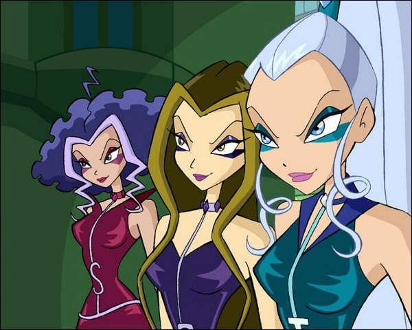 Comment se nomme le trio de sorcières qui combat les Winx ?