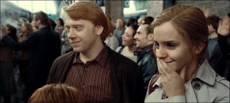 Où Ron et Hermione se sont-ils embrassés pour la première fois ?