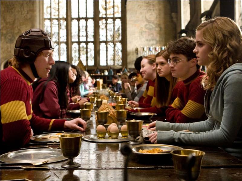 """Dans """"Harry Potter et le prince de sang mêlé"""", que fait Hermione pour aider Ron à devenir gardien dans l'équipe de Quidditch de Gryffondor ?"""