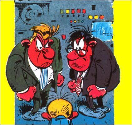 Ces deux hommes ont une société à mitoyenne à la rédaction du journal et sont souvent victimes des expériences de Gaston.
