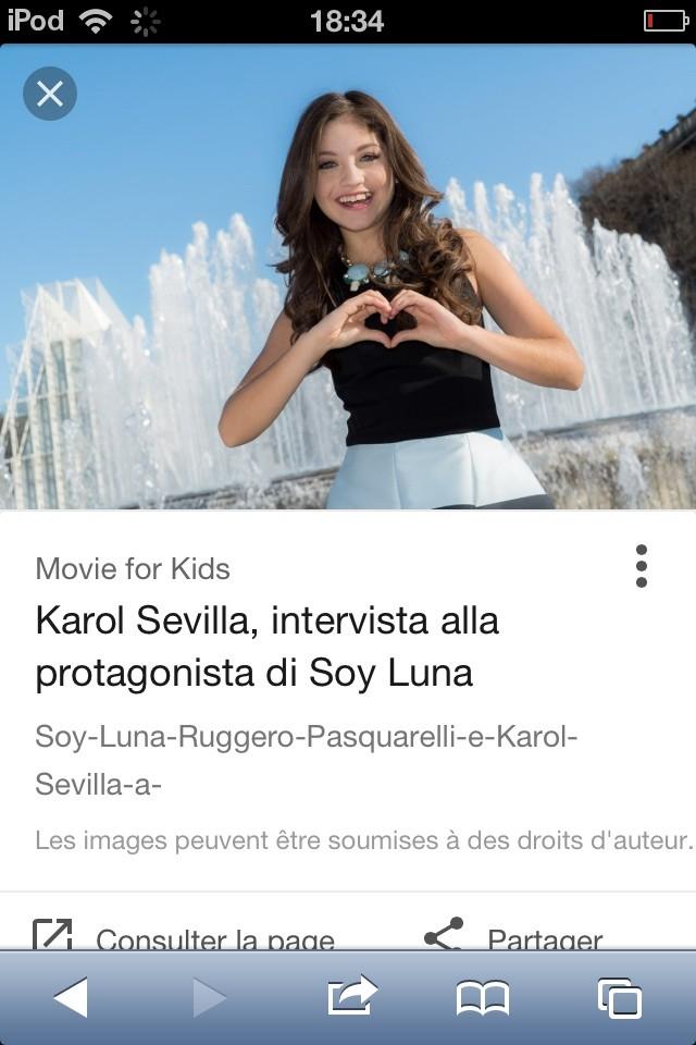 La chaîne YouTube de Karol Sevilla !