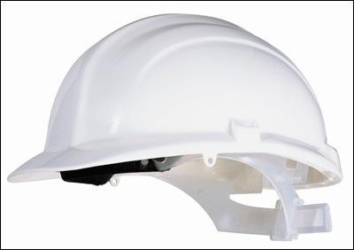 Je porte ce casque blanc lorsque je travaille :
