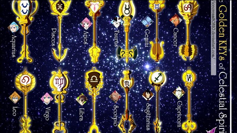 Combien de clés d'or Lucy a-t-elle ?
