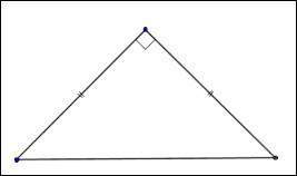 Un triangle isocèle rectangle a deux côtés de même longueur et un angle droit.