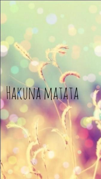 "Dans quel film la chanson ""Hakuna Matata"" apparaît-elle ?"