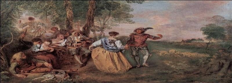 """De quel peintre, notamment connu pour """"Pèlerinages à l'île de Cythère"""", est ce tableau évoquant des plaisirs pastoraux ?"""