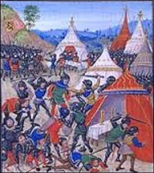 """23 août 1328, alors que le roi de France se prépare à un combat à proximité de la ville de Cassel dans le Nord, contre les milices flamandes menées par Nicolaas Zannekin, ces derniers attaquent par surprise. L'alerte est donnée et le souverain n'hésite pas, il lance une contre-attaque partant devant en s'écriant : """"Qui m'aime me suive"""" et ce sera la victoire. Qui a crié ces paroles ?"""