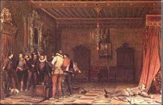 """23 décembre 1588, Henri Ier, duc de Guise, dit """"le Balafré"""", est assassiné sur ordre du roi lors des États généraux qui se déroule au château de Blois, réunion convoquée par le souverain, sur fond de lutte entre les différentes factions de la huitième guerre de religion. Ce dernier le voyant allongé à terre dit : """"Qu'il est grand, plus grand encore mort que vivant! """". Qui a prononcé cette phrase ?"""