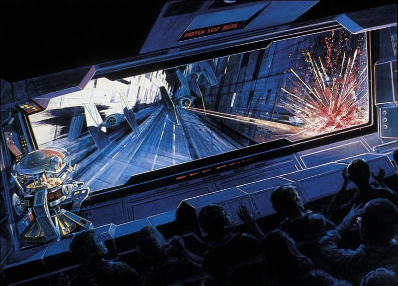 Quelle attraction rend hommage à Star Wars ?