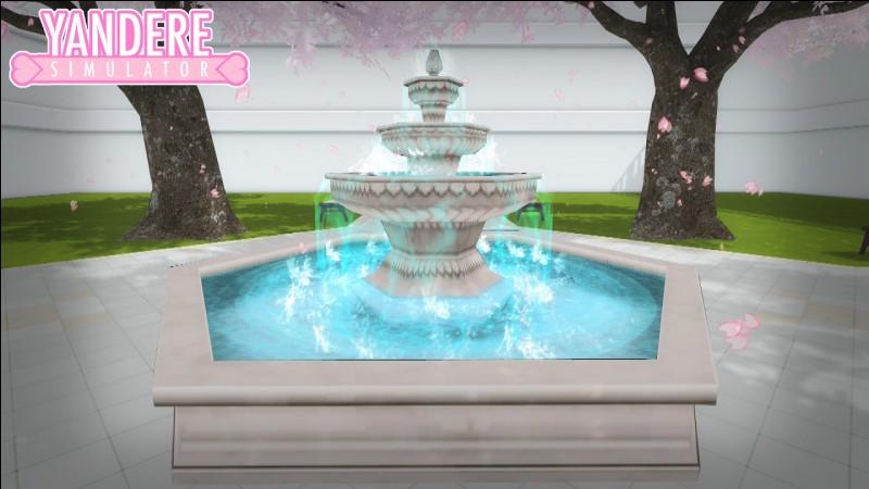 À quel mode appartient la tenue qui se trouve sous la fontaine ?