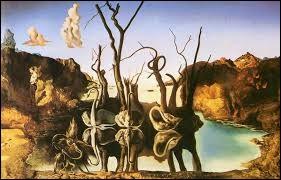 """Cette peinture est de Dali, c'est """"Cygnes reflétant des éléphants"""" :"""