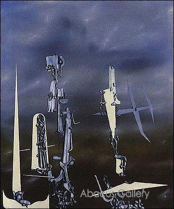 "La toile ""Les invisibles"" est de Dali :"