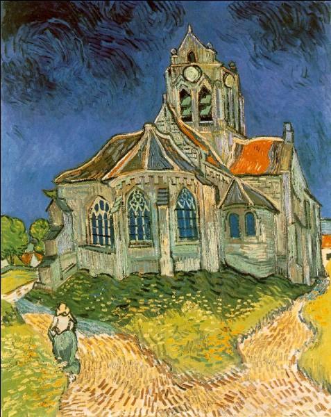 Cette toile représente l'église d'Auvers sur Oise, de van Gogh :