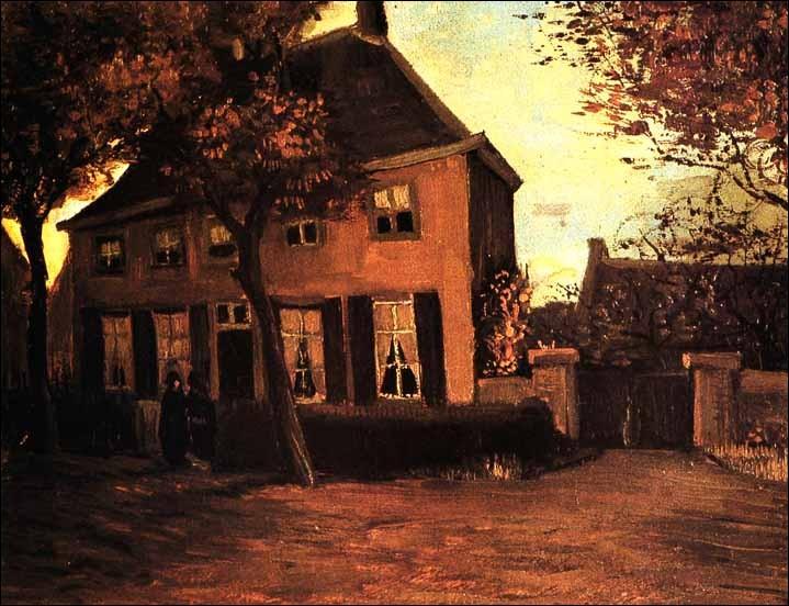 Ce tableau est de van Gogh, c'est le presbytère de Nuenen :