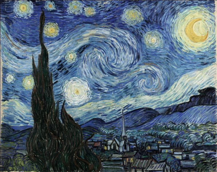 """Cette toile est de van Gogh, c'est """"La nuit étoilée"""" :"""