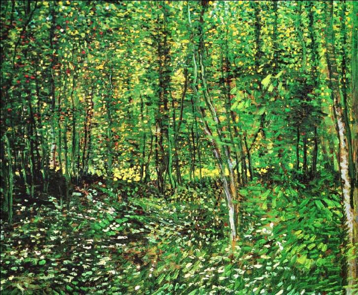 Ce sous-bois a été peint par van Gogh :