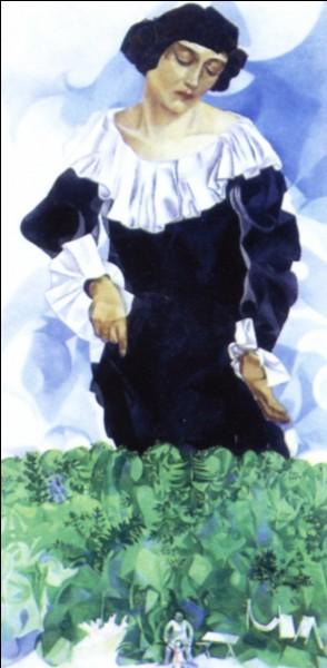 Cette femme est Bella, peinte par Chagall :