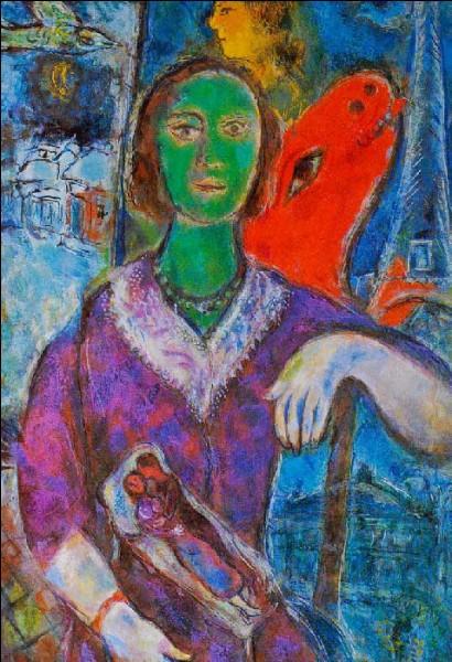 Ceci est un portrait de Vava, épouse de Chagall :