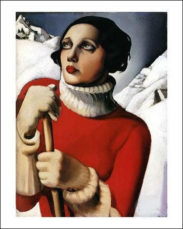 Cette toile est une peinture de Chagall et représente Bella :